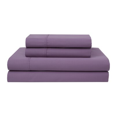 Oskar Wrinkle Free 420 Thread Count 100% Cotton Sheet Set Color: Orchid, Size: Queen