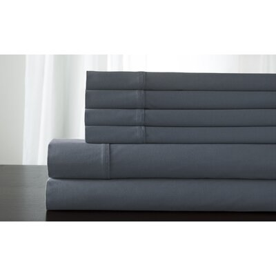 Bukowski 850 Thread Count Sheet Set Size: King, Color: Blue Fog