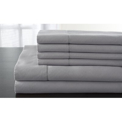 Solid 1200 Thread Count Sheet Set Size: California King, Color: Silver