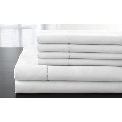 Solid 1200 Thread Count Sheet Set Size: Queen, Color: White