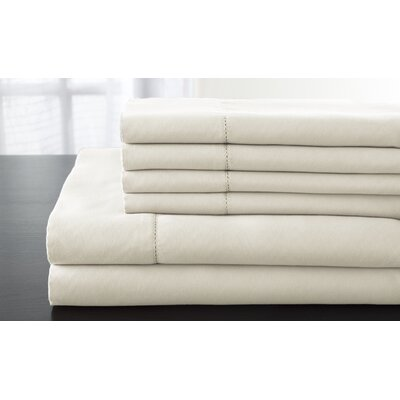 Solid 1200 Thread Count Sheet Set Size: California King, Color: Ivory