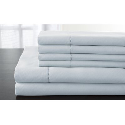 Solid 1200 Thread Count Sheet Set Size: California King, Color: Light Blue