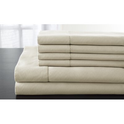 Solid 1200 Thread Count Sheet Set Size: King, Color: Taupe