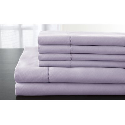 Solid 1200 Thread Count Sheet Set Size: King, Color: Lavender