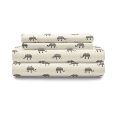Aristocrat Elephant Elastic Sheet Set Size: Twin