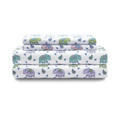 Aristocrat Elephant Paisley Sheet Set Size: Twin XL