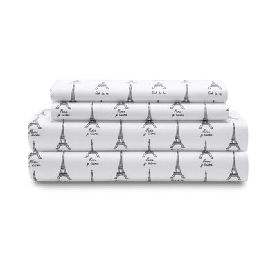 Rothley Paris Print Sheet Set Size: Queen