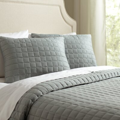 Cary Quilt Set Size: King, Color: Pool