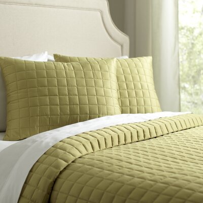 Cary Quilt Set Size: King, Color: Fern