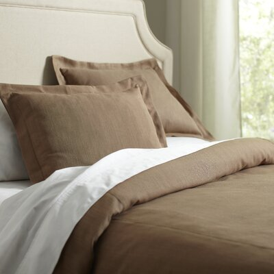 Lola 3 Piece Duvet Set Size: King, Color: Flax