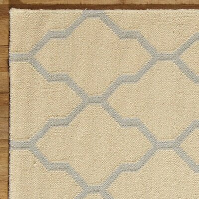 Kingsley Parchment & Light Gray Rug Rug Size: 3' x 5'
