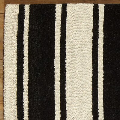 Tenley Black & White Rug Rug Size: Rectangle 3 x 5