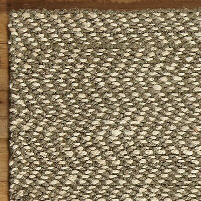 Sibley Hand-Woven Jute Pewter  Area Rug Rug Size: Rectangle 8 x 11