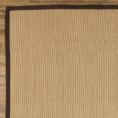 Sasha Hand-Woven Chocolate Jute Area Rug Rug Size: Rectangle 5 x 8