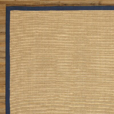 Sasha Hand-Woven Navy Jute Area Rug Rug Size: Rectangle 8 x 10