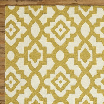 Dana Natural & Olive Rug Rug Size: Rectangle 5 x 8