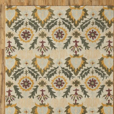 Devon Gold & Parchment Rug Rug Size: Rectangle 9 x 12