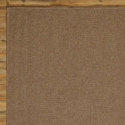 Ava Solid Rug, Chocolate Rug Size: Runner 26 x 8