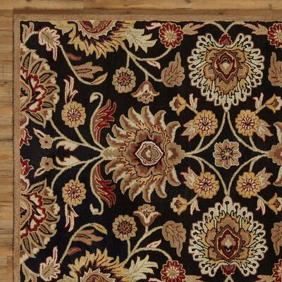 Phoebe Black Hand-Woven Area Rug Rug Size: Rectangle 12 x 15