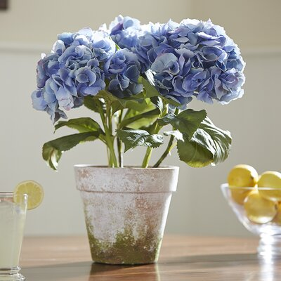 Potted Faux Blue Hydrangea