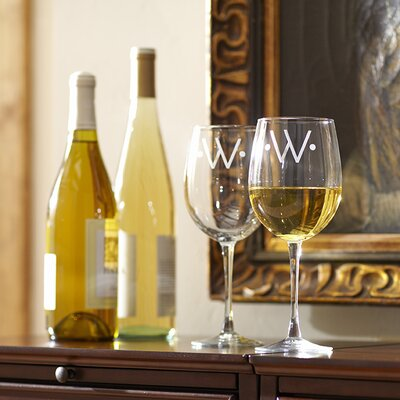 Monogrammed Classic Wine Glasses