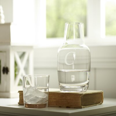 Monogrammed Nightstand Carafe CSD-1194