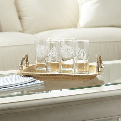 Seashell Etched Highball Glass