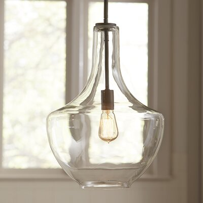 Sutton Pendant Shade: Clear Glass, Size: Large