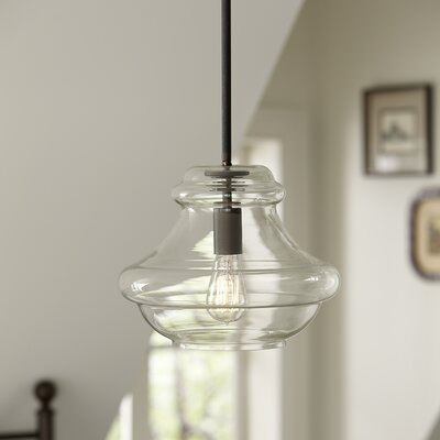 Astoria 1-Light Schoolhouse Pendant Finish: Olde Bronze