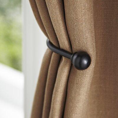 Matte Black Drapery Curtain Holdback