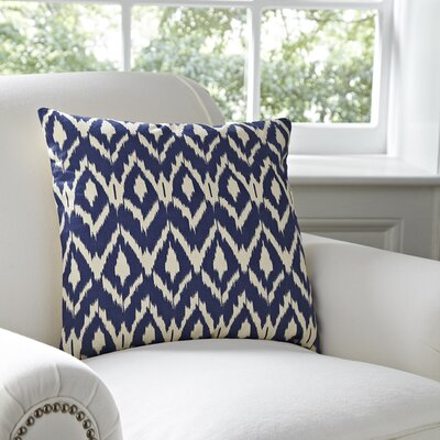 Tara Pillow Cover Color: Navy