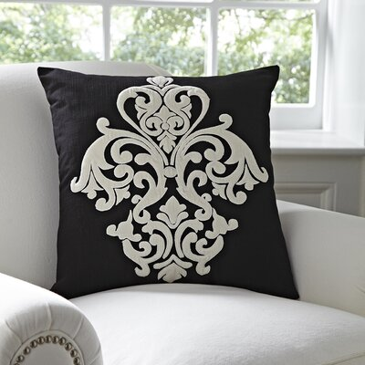 Leah Pillow Cover Color: Black & White