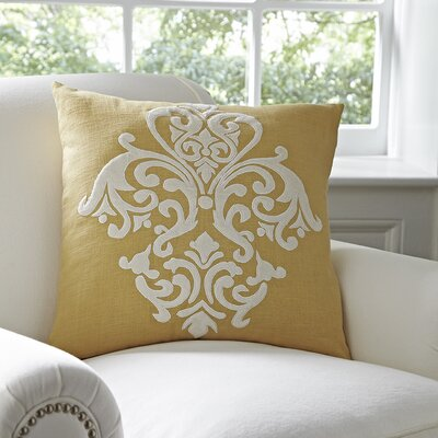 Leah Pillow Cover Color: Mustard & White