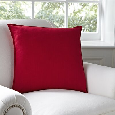 Milly Pillow Cover Color: Red