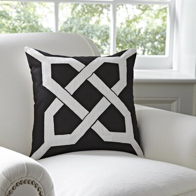 Kira Cotton Pillow Cover Color: Black & White