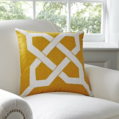 Kira Cotton Pillow Cover Color: Canary & White
