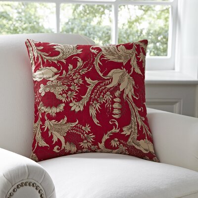 Vivi Pillow Cover Color: Red & Natural