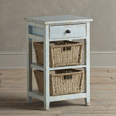 Driscoll Storage Table Color: Blue, Size: 2 Basket
