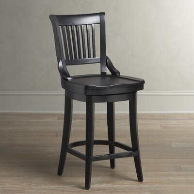 Carter Swivel Stool Finish: Black, Seat Height: 34