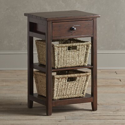 Driscoll Storage Table Color: Chocolate, Size: 2 Basket