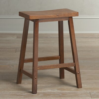 Collier Stool Seat Height: 24, Finish: Walnut