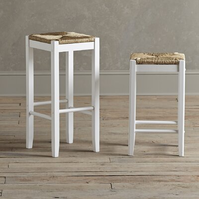 Alden Stools (Set of 2) Finish: White, Seat Height: 29