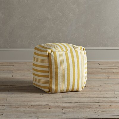 Felix Striped Pouf Upholstery: Canary