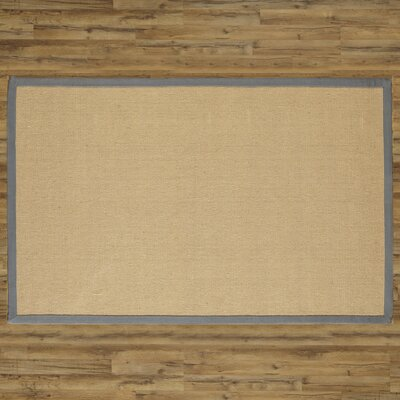 Sasha Hand-Woven Jute Pewter Area Rug Rug Size: Rectangle 9 x 13