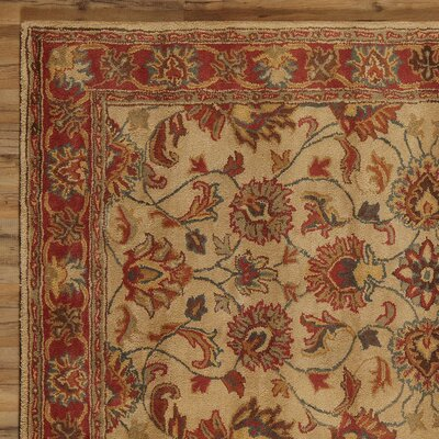 Arden Brick Hand-Woven Wool Area Rug Rug Size: Rectangle 76 x 96