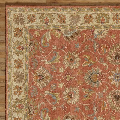 Arden Burnt Orange Tufted Wool Area Rug Rug Size: Square 6
