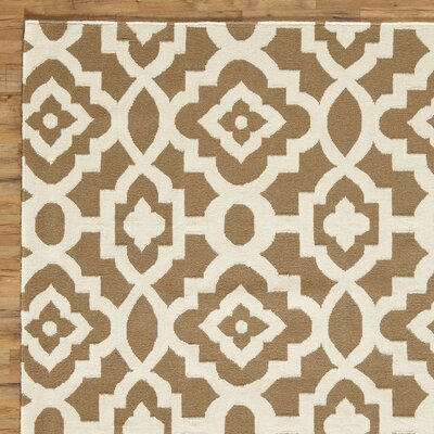 Dana Natural & Parchment Hand-Woven Area Rug Rug Size: Rectangle 2 x 3