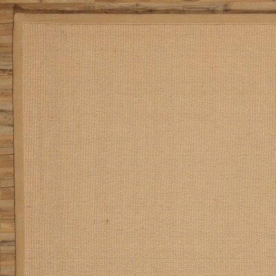 Sasha Hand-Woven Jute Natural Area Rug Rug Size: Rectangle 5 x 8