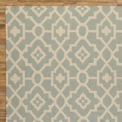 Dana Blue & Natural Rug Rug Size: 2 x 3