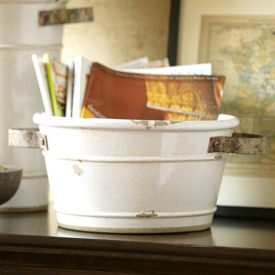 Crackle Round Pot Planter